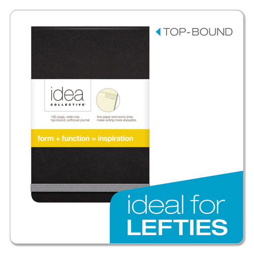Idea Collective Journal, Wide/Legal Rule, Black Cover, 3.5 x 5.5, 96 Sheets. Picture 2