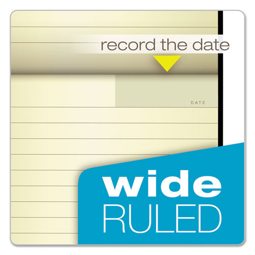 Idea Collective Journal, 1 Subject, Wide/Legal Rule, Black Cover, 5 x 8.25, 120 Sheets. Picture 4