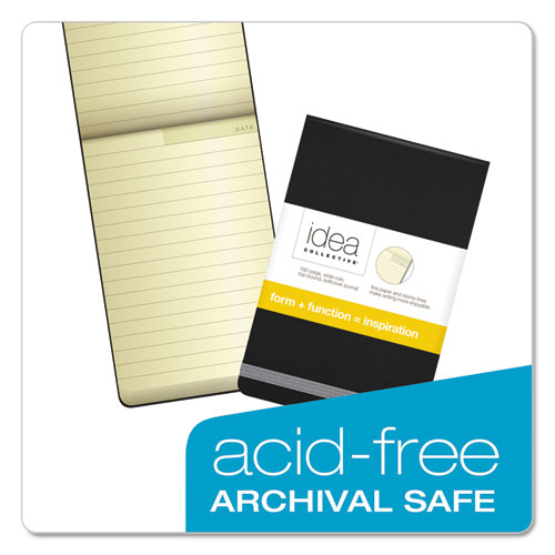Idea Collective Journal, Wide/Legal Rule, Black Cover, 3.5 x 5.5, 96 Sheets. Picture 4