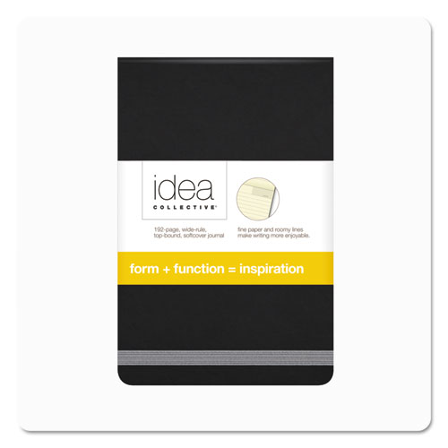 Idea Collective Journal, Wide/Legal Rule, Black Cover, 3.5 x 5.5, 96 Sheets. Picture 1