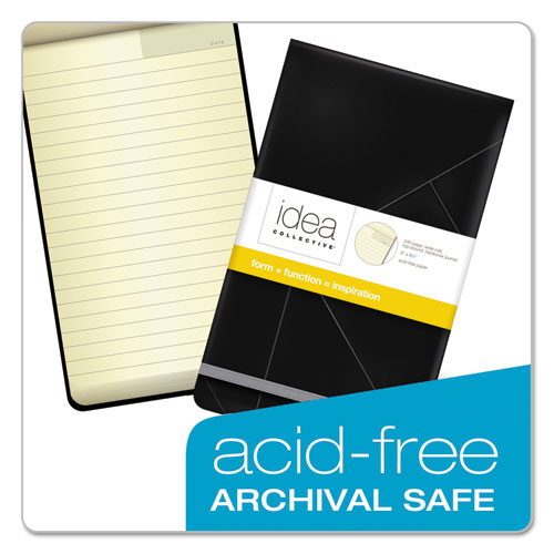 Idea Collective Journal, 1 Subject, Wide/Legal Rule, Black Cover, 5 x 8.25, 120 Sheets. Picture 6