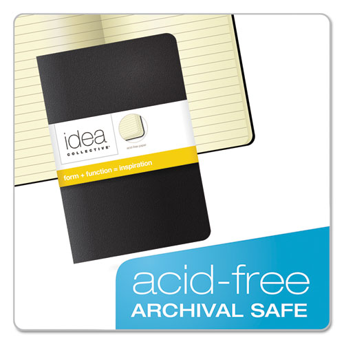 Idea Collective Journal, Wide/Legal Rule, Black Cover, 5.5 x 3.5, 40 Sheets, 2/Pack. Picture 4