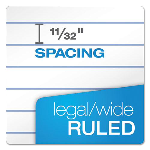 Gold Fibre Writing Pads, Wide/Legal Rule, 8.5 x 11.75, White, 50 Sheets, 4/Pack. Picture 6