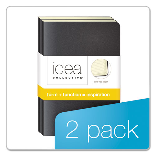 Idea Collective Journal, Wide/Legal Rule, Black Cover, 5.5 x 3.5, 40 Sheets, 2/Pack. Picture 5