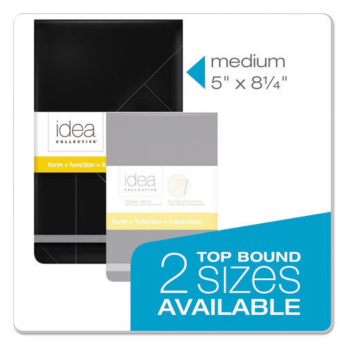 Idea Collective Journal, 1 Subject, Wide/Legal Rule, Black Cover, 5 x 8.25, 120 Sheets. Picture 7