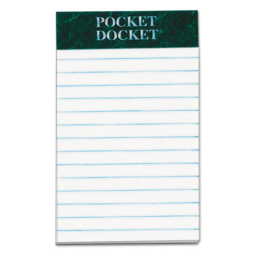 Docket Ruled Perforated Pads, Medium/College Rule, 3 x 5, White, 50 Sheets, 12/Pack. Picture 1
