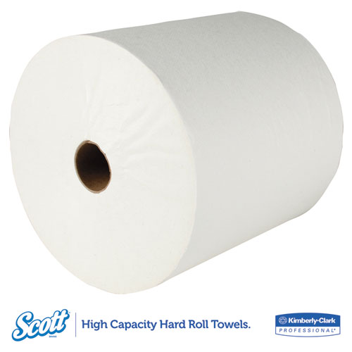 """Essential High Capacity Hard Roll Towel, 1.5"""" Core, 8 x 1000 ft, Recycled, White, 6/Carton. Picture 4"""