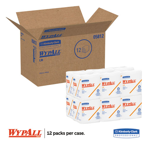 L30 Towels, Quarter Fold, 12 1/2 x 12, 90/Polypack, 12 Polypacks/Carton. Picture 2