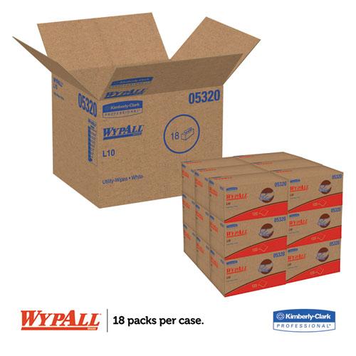 L10 Towels, POP-UP Box, 1Ply, 9 x 10 1/2, White, 125/Box, 18 Boxes/Carton. Picture 3