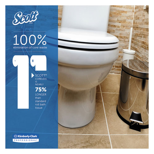 Essential Coreless SRB Bathroom Tissue, Septic Safe, 2-Ply, White, 1000 Sheets/Roll, 36 Rolls/Carton. Picture 3