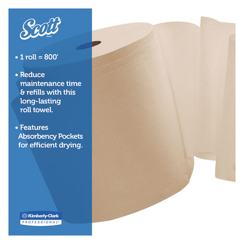"""Hard Roll Towels, 1.5"""" Core, 8 x 800ft, Natural, 12 Rolls/Carton. Picture 3"""