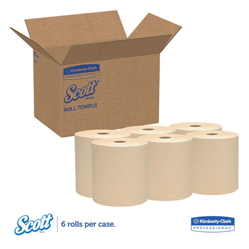 """Hard Roll Towels, 1.5"""" Core, 8 x 800ft, Natural, 12 Rolls/Carton. Picture 4"""