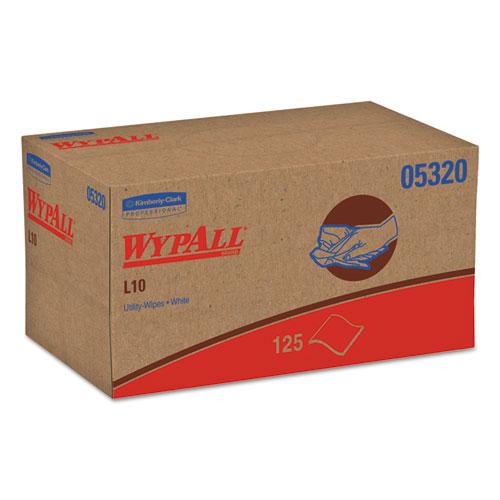 L10 Towels, POP-UP Box, 1Ply, 9 x 10 1/2, White, 125/Box, 18 Boxes/Carton. Picture 1