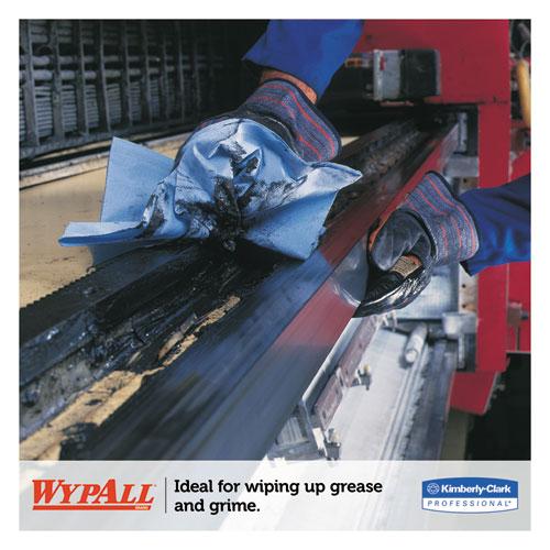 L40 Wiper, 1/4 Fold, Blue, 12 1/2 x 12, 56/Box, 12 Boxes/Carton. Picture 4