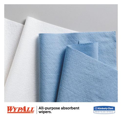 L40 Wiper, 1/4 Fold, Blue, 12 1/2 x 12, 56/Box, 12 Boxes/Carton. Picture 5