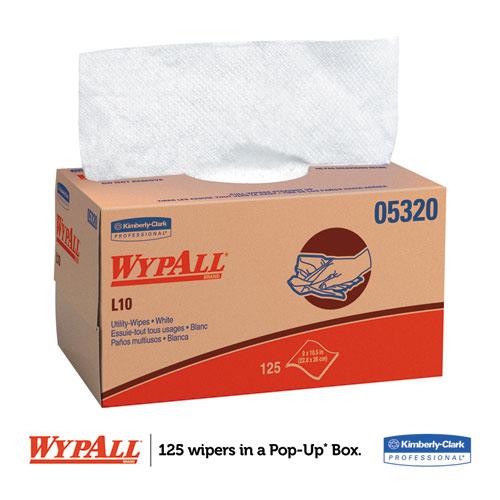 L10 Towels, POP-UP Box, 1Ply, 9 x 10 1/2, White, 125/Box, 18 Boxes/Carton. Picture 6