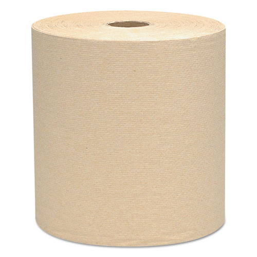 """Hard Roll Towels, 1.5"""" Core, 8 x 800ft, Natural, 12 Rolls/Carton. Picture 1"""