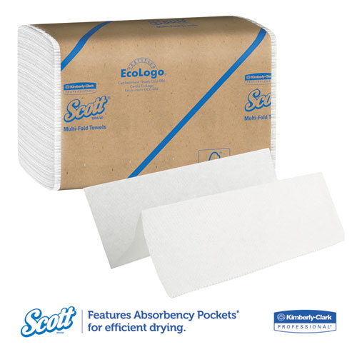 Essential Multi-Fold Towels, Absorbency Pockets, 9 1/5 x 9 2/5, 250/Pk, 16 Pk/CT. Picture 6