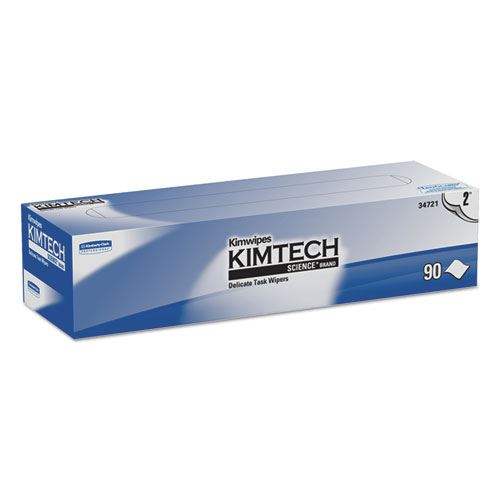Kimwipes Delicate Task Wipers, 2-Ply, 14 7/10 x 16 3/5, 90/Box, 15 Boxes/Carton. Picture 1