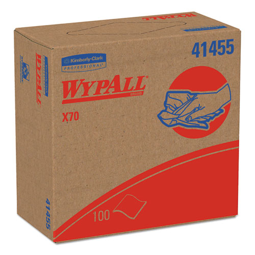 X70 Cloths, POP-UP Box, 9 1/10 x 16 4/5, White, 100/Box, 10 Boxes/Carton. Picture 1