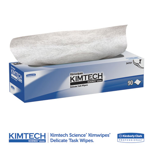 Kimwipes Delicate Task Wipers, 2-Ply, 14 7/10 x 16 3/5, 90/Box, 15 Boxes/Carton. Picture 3