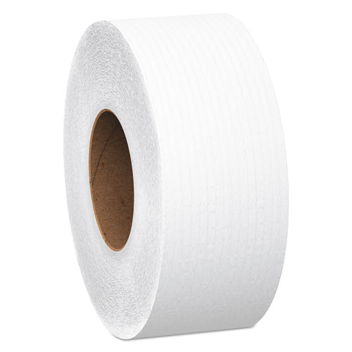 Essential 100% Recycled Fiber JRT Bathroom Tissue, Septic Safe, 2-Ply, White, 1000 ft, 12 Rolls/Carton. Picture 1