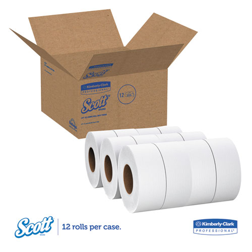 Essential 100% Recycled Fiber JRT Bathroom Tissue, Septic Safe, 2-Ply, White, 1000 ft, 12 Rolls/Carton. Picture 5