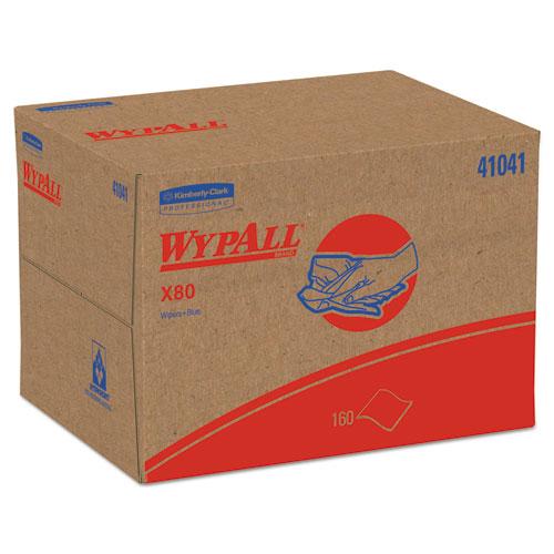 X80 Cloths, BRAG Box, HYDROKNIT, Blue, 11.1 x 16.8, 160 Wipers/Carton. Picture 1
