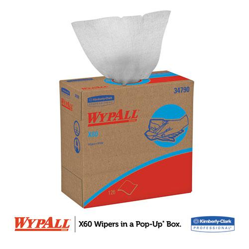 X60 Cloths, POP-UP Box, White, 9 1/8 x 16 7/8, 126/Box, 10 Boxes/Carton. Picture 4