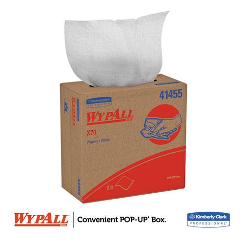 X70 Cloths, POP-UP Box, 9 1/10 x 16 4/5, White, 100/Box, 10 Boxes/Carton. Picture 4