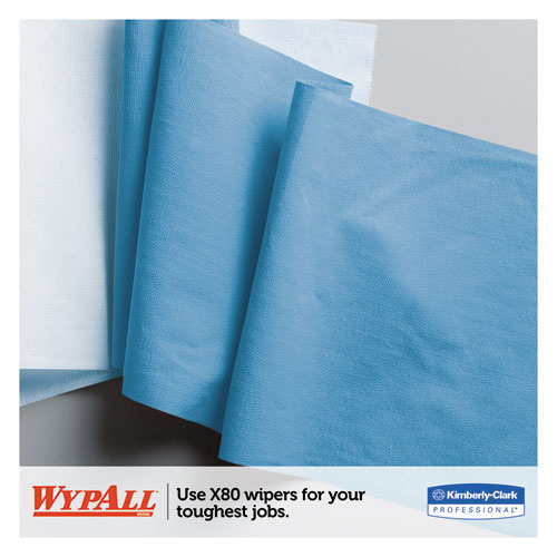 X80 Cloths, BRAG Box, HYDROKNIT, Blue, 11.1 x 16.8, 160 Wipers/Carton. Picture 6