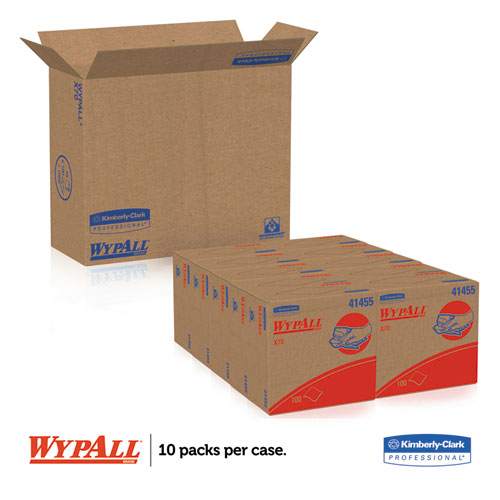 X70 Cloths, POP-UP Box, 9 1/10 x 16 4/5, White, 100/Box, 10 Boxes/Carton. Picture 5