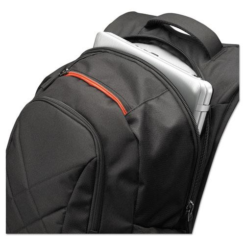 """16"""" Laptop Backpack, 9 1/2 x 14 x 16 3/4, Black. Picture 2"""