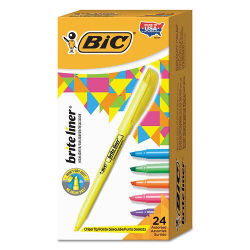 Brite Liner Highlighter Value Pack, Chisel Tip, Assorted Colors, 24/Set. Picture 1