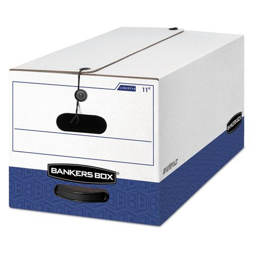 """LIBERTY Heavy-Duty Strength Storage Boxes, Letter Files, 12.25"""" x 24.13"""" x 10.75"""", White/Blue, 12/Carton. Picture 1"""