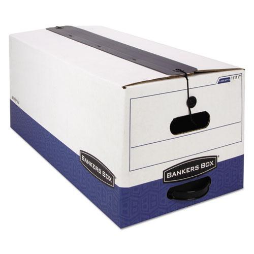 "LIBERTY Plus Heavy-Duty Strength Storage Boxes, Letter Files, 12.25"" x 24.13"" x 10.75"", White/Blue, 12/Carton. Picture 3"