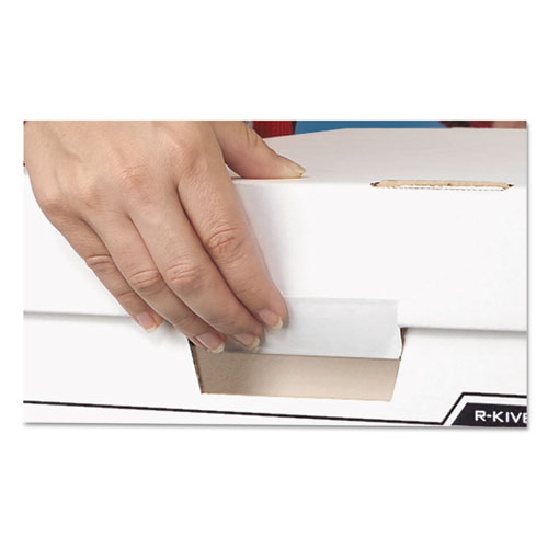 "BINDERBOX Storage Boxes, Letter Files, 13.13"" x 20.13"" x 12.38"", White/Blue, 12/Carton. Picture 3"