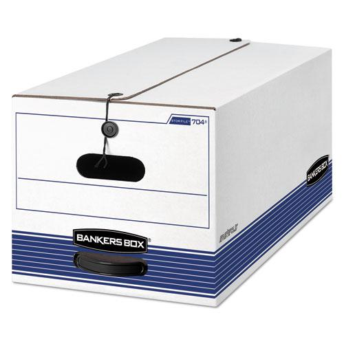 """STOR/FILE Medium-Duty Strength Storage Boxes, Letter Files, 12.25"""" x 24.13"""" x 10.75"""", White/Blue, 12/Carton. Picture 1"""