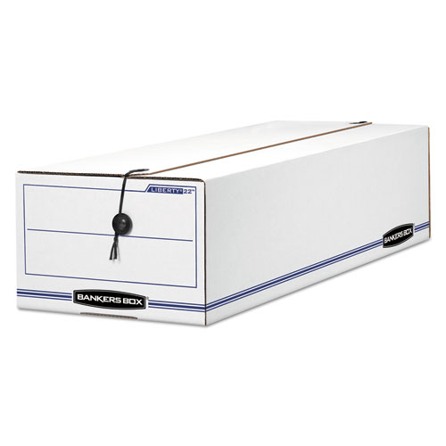 """LIBERTY Check and Form Boxes, 9"""" x 24.25"""" x 7.5"""", White/Blue, 12/Carton. Picture 1"""
