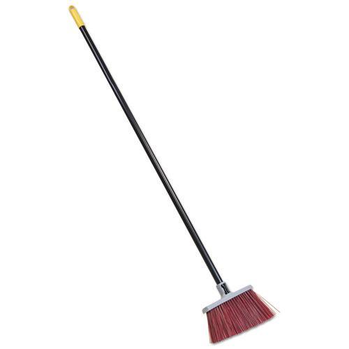 """Bulldozer Landscaper's Upright Broom, 48"""" Handle, 4"""" Bristles, Red/Gray. Picture 1"""