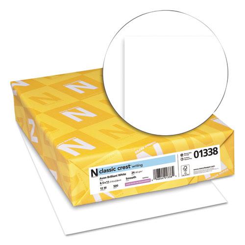 CLASSIC CREST Stationery, 93 Bright, 24 lb, 8.5 x 11, Avon White, 500/Ream. Picture 2