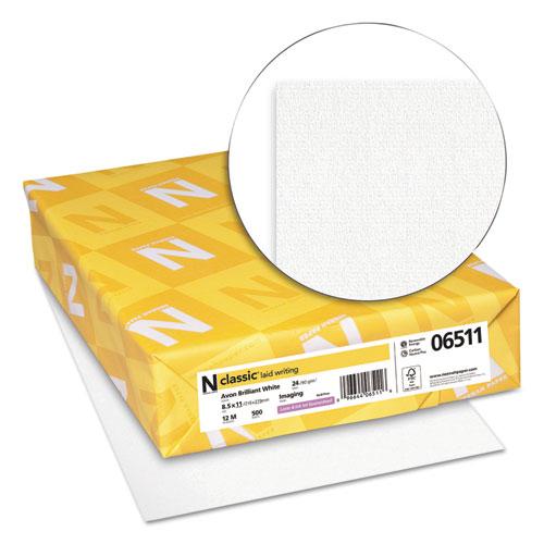 CLASSIC Laid Stationery, 93 Bright, 24 lb, 8.5 x 11, Avon White, 500/Ream. Picture 2