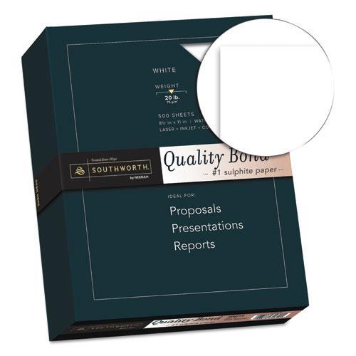 Quality Bond Business Paper, 95 Bright, 20 lb, 8.5 x 11, White, 500/Ream. Picture 2