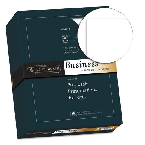 100% Cotton Business Paper, 95 Bright, 20 lb, 8.5 x 11, White, 500/Ream. Picture 2