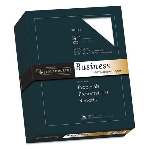 100% Cotton Business Paper, 95 Bright, 20 lb, 8.5 x 11, White, 500/Ream. Picture 1
