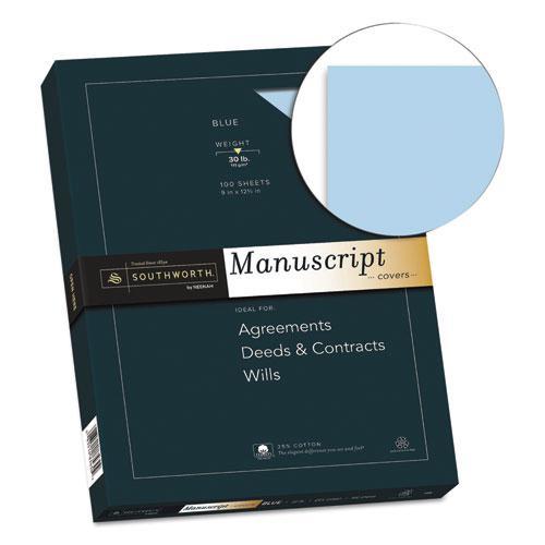 25% Cotton Manuscript Cover, 30lb, 9 x 12.5, 100/Pack. Picture 2