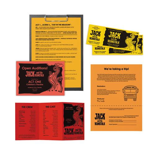 "Color Paper - ""Warm"" Assortment, 24lb, 8.5 x 11, Assorted Warm Colors, 500/Ream. Picture 2"