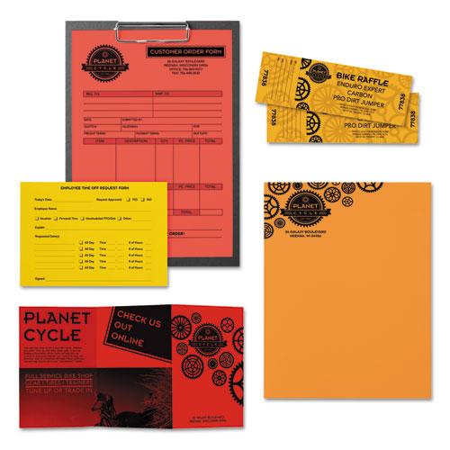 "Color Paper - ""Warm"" Assortment, 24lb, 8.5 x 11, Assorted Warm Colors, 500/Ream. Picture 3"