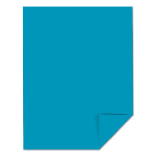 Color Cardstock, 65 lb, 8.5 x 11, Celestial Blue, 250/Pack. Picture 2