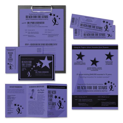 Color Cardstock, 65 lb, 8.5 x 11, Venus Violet, 250/Pack. Picture 2